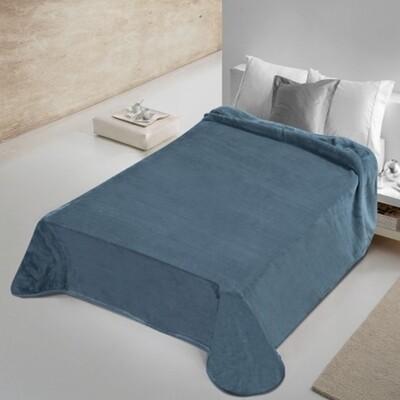 Κουβέρτα Βελουτέ Μονή 802 Dark Blue - Adam Home