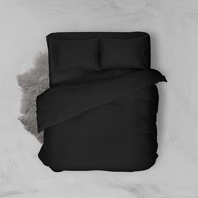 Παπλωματοθήκη Μονή Menta 208 Μαύρο - Sunshine