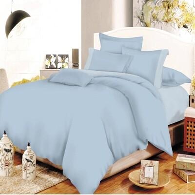 Παπλωματοθήκη Διπλή Cotton Line Lavender-Baby Blue - Komvos