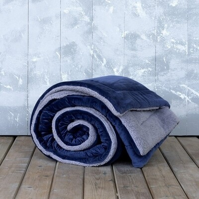 Κουβερτο-Πάπλωμα Μονό Nuan Blue-Gray - Nima Home