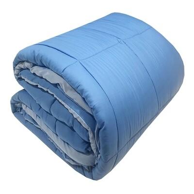 Πάπλωμα Διπλό Micro Light Blue-Blue - Komvos