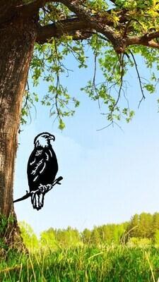 Bird Tree Art 1 Foot X 1 1/2 FeetMild Steel10/14 Gauge