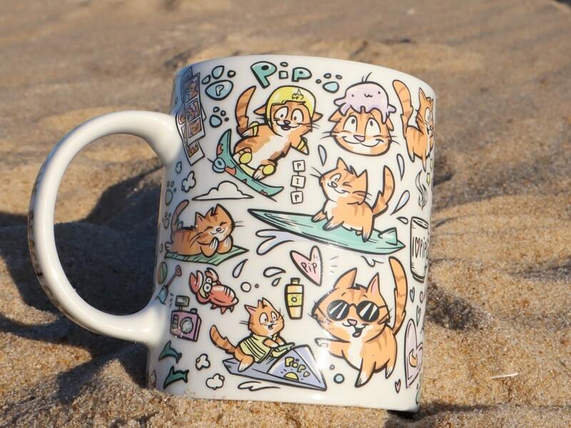 Pip the Beach Cat Mug!