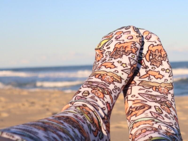 SALE Pip The Beach Cat Socks