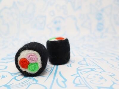 Handmade in Nepal Wool Sushi Roll