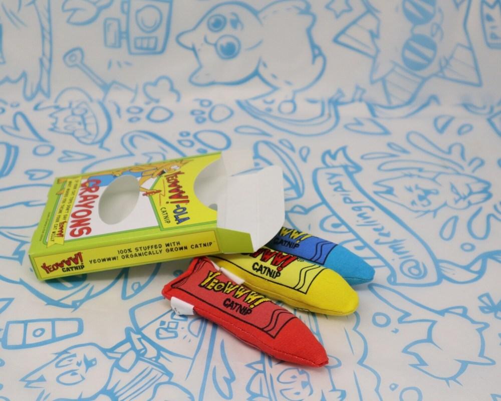 Yeowww!! Box O' Crayons Catnip Toy