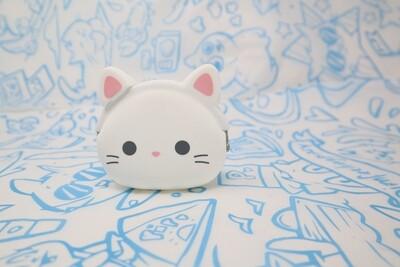 White Cat Coin Purse
