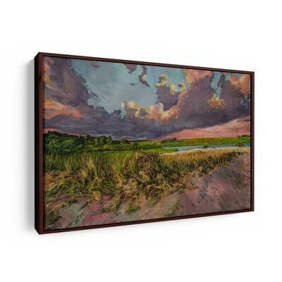 Vineyard Sunset | Original Oil Painting