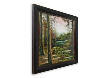 A Forest Pond | Original Oil Painting