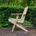Modern Adirondack Chair Templates Digital Build Plan