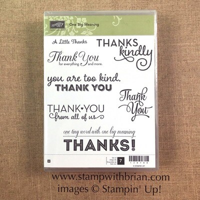 One Big Meaning Wood-Mount Stamp Set