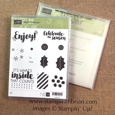Tags & Trimmings Bundle Clear-Mount Stamp Set