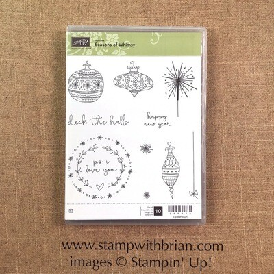 Seasons of Whimsy Clear-mount Stamp Set NEW