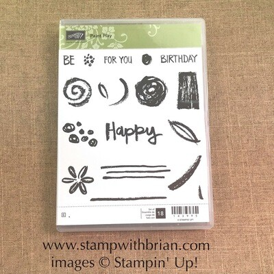 Paint Play Clear-Mount Stamp Set