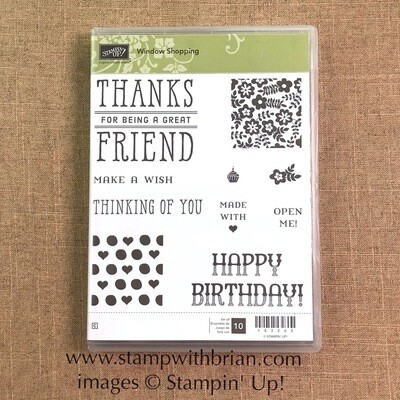 Window Shopping Clear-Mount Stamp Set