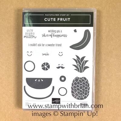 Cute Fruit Photopolymer Stamp Set