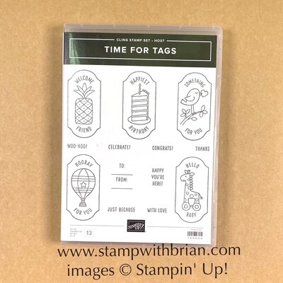 Time for Tags Cling Stamp Set