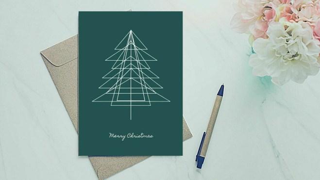 Holiday Greeting Card - Geometric Tree