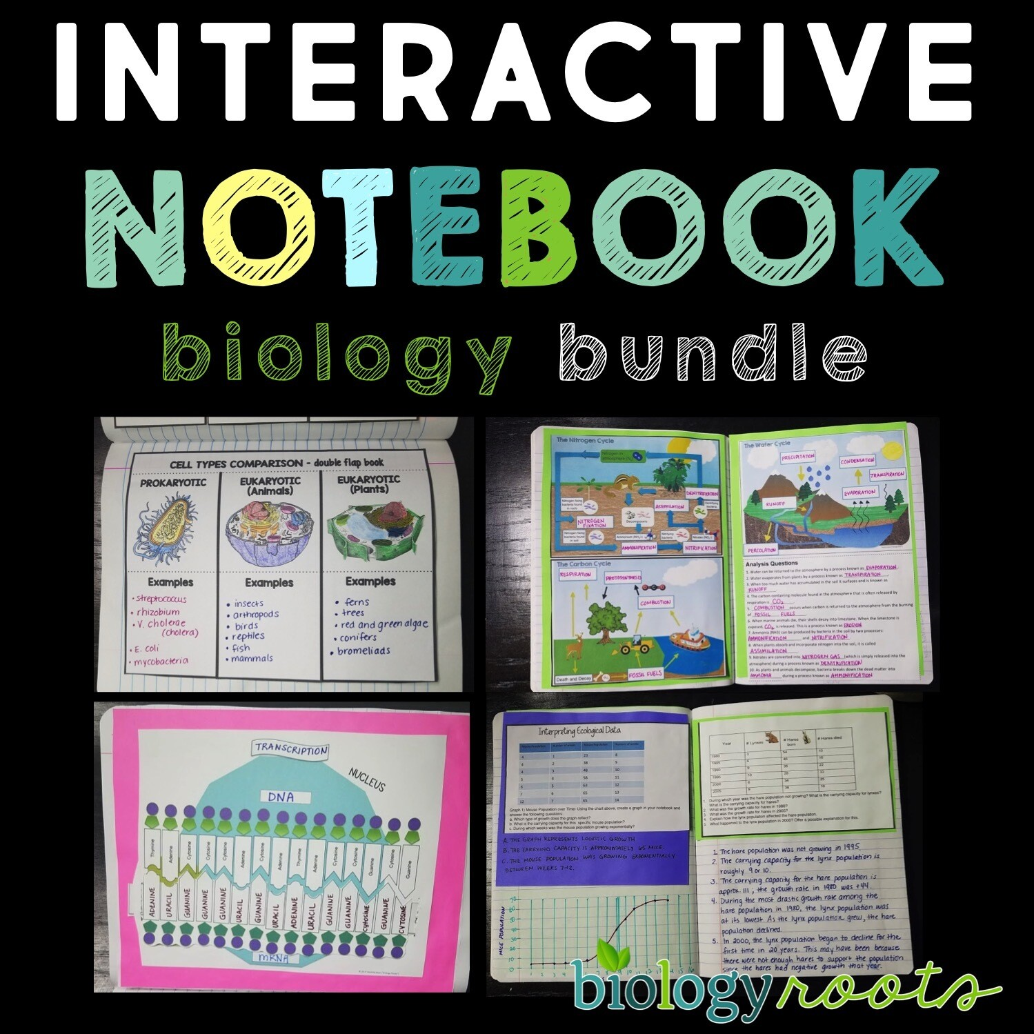 Biology Interactive Notebook Bundle- supports digital