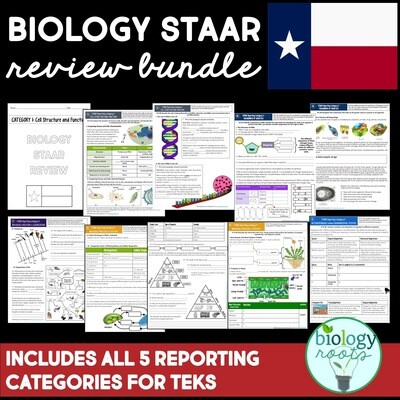 STAAR Biology Review BUNDLE Categories 1-5