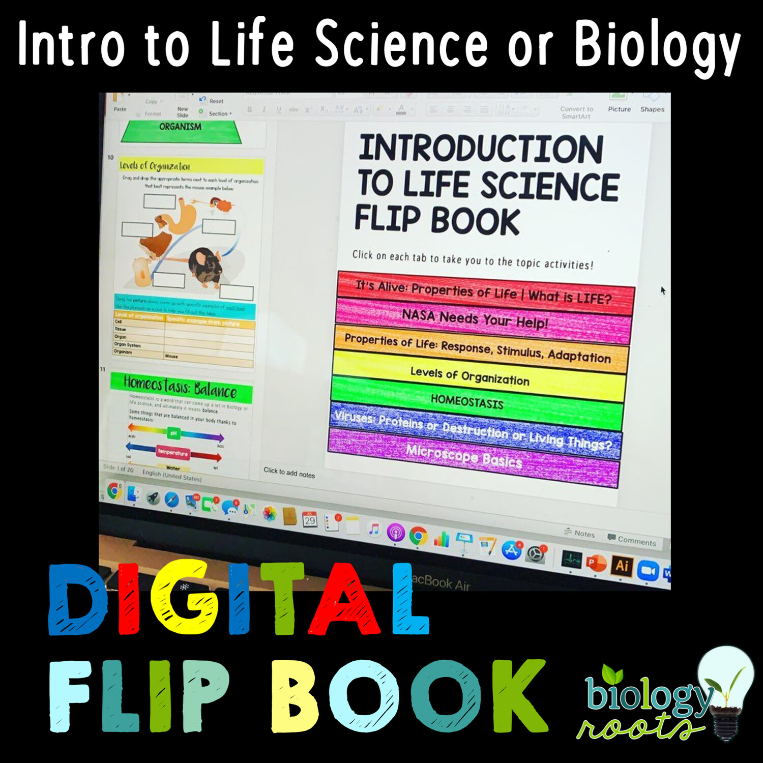 Introduction to Life Science or Biology Digital Flip Book