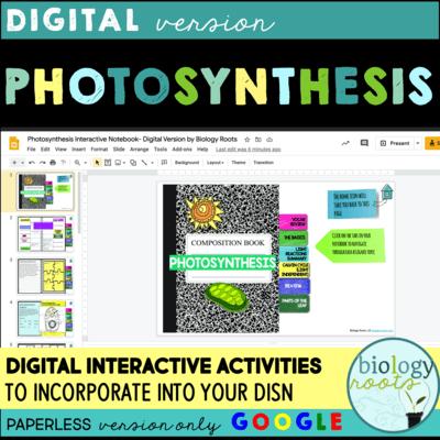 Photosynthesis Digital Interactive Activities
