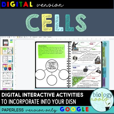 Cells Digital Interactive Activities