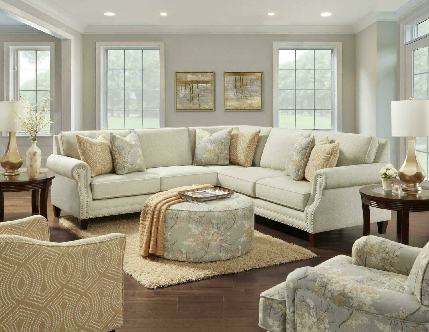intention taupe sectional