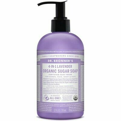 Dr Bronners Organic Sugar Soap 355ml