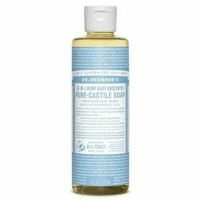 Dr Bronners - Baby Unscented Pure castile Liquid soap 240ml