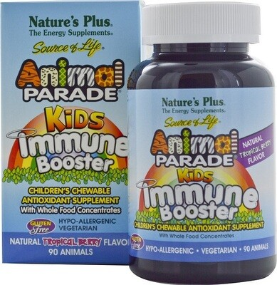 Natures Plus Animal Parade Kids Immune Booster Chew. 90tabs