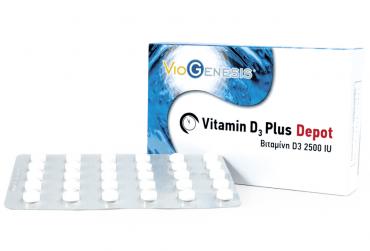 Viogenesis Vitamin D3 Plus Depot 2500iu 90 caps