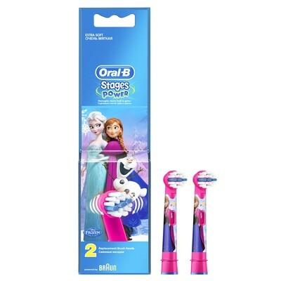 Oral-B Stages Power Frozen, Ανταλλακτικά για Ηλεκτρική Παιδική Οδοντόβουρτσα 2τμχ