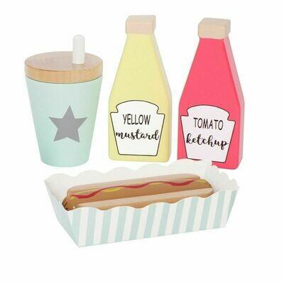 Πακέτο με ξύλινα υλικά για γεύμα Hot Dog