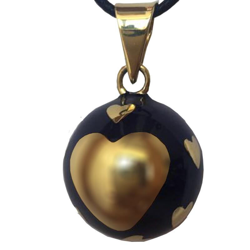 Bola Μενταγιόν εγκυμοσύνης - Μπλέ σκούρο με χρυσή καρδιά