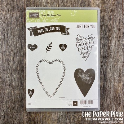 Sure Do Love You Cling Stamp Set
