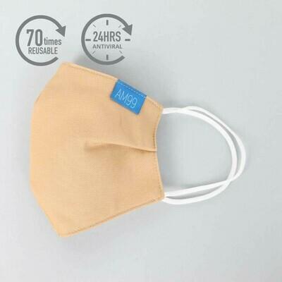 Face Mask AM99™ Antiviral Antibacterial Reusable 70 times – Caramel