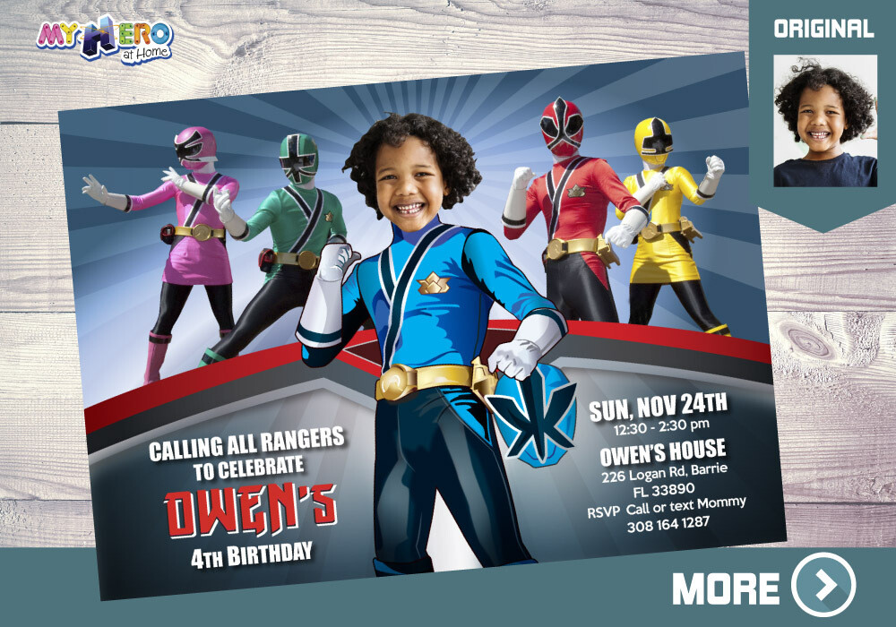 blue power rangers birthday invitation blue power ranger party power rangers theme party rangers virtual rangers digital invitation 216