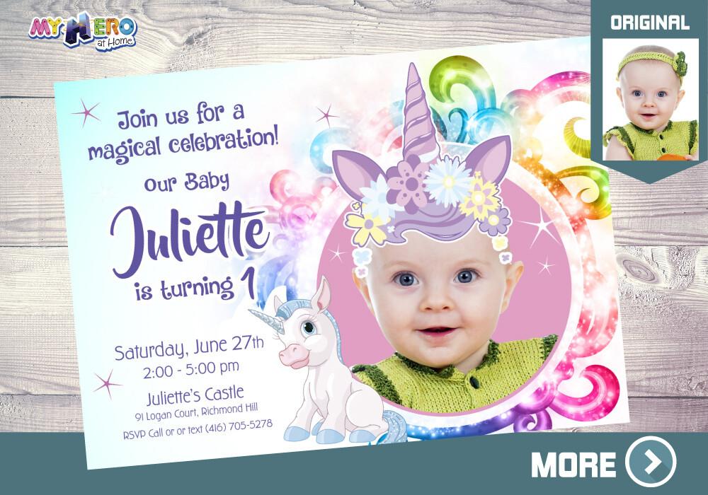 baby unicorn 1st birthday invitation unicorn themed party unicorn first birthday unicorn birthday unicorn invitation unicorn party 284