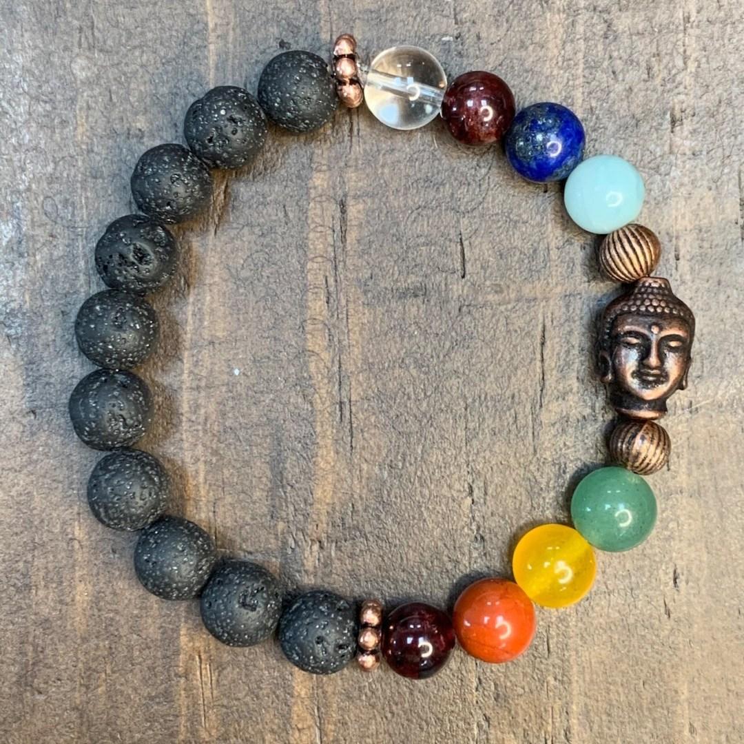 Chakra Balancing Bracelet: Buddha Head