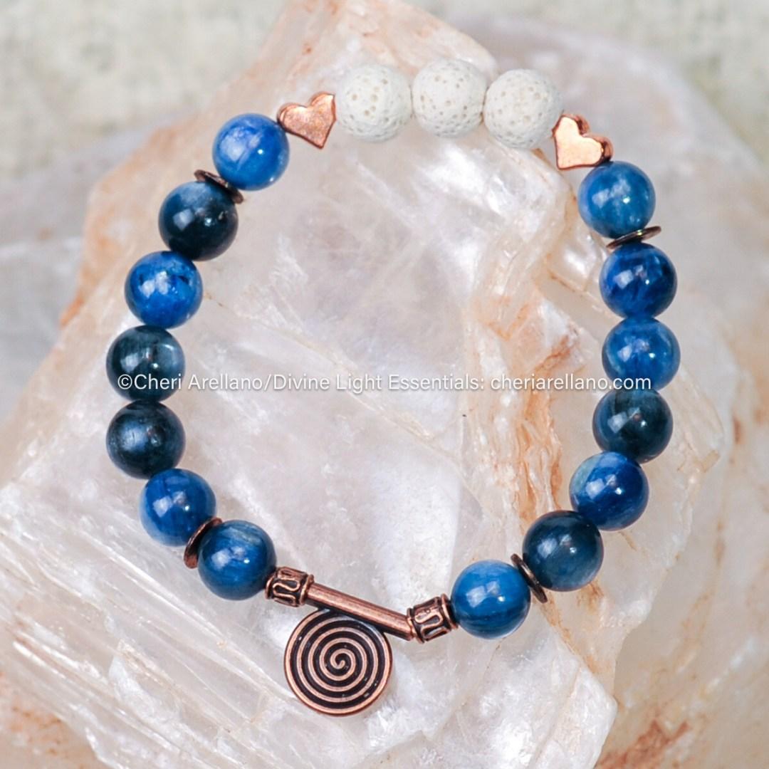 Kyanite Copper Spiral Bracelet