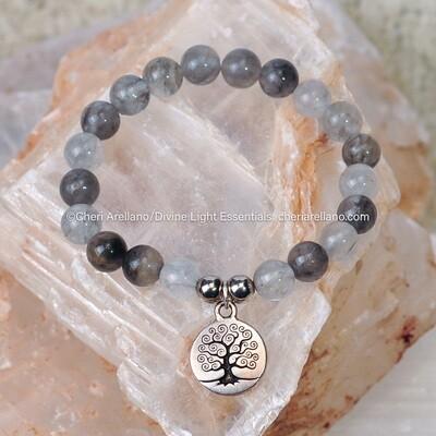 Smoky Quartz Tree of Life Bracelet