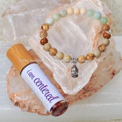 I am Centered Chakra Balancing Bracelet & Elixir Set