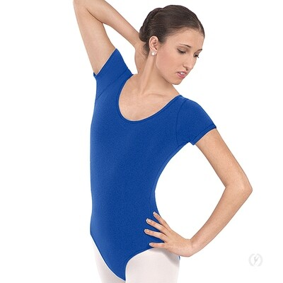 44475 Adult Microfiber Short Sleeve Leotard
