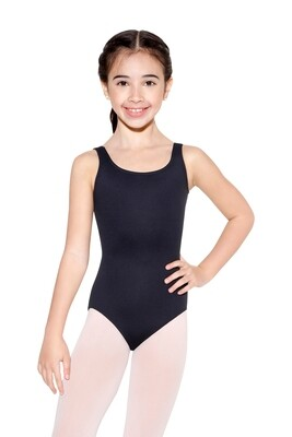 D172 Child Tank Wide Strap Bow Back Leotard