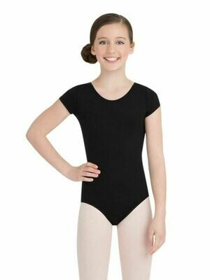 TB132C MC BLK Short Sleeve Leotard