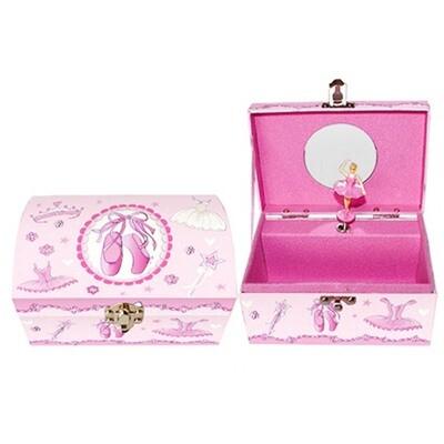 Pink Ballerina Musical Jewelry Box