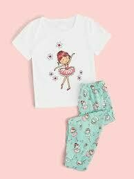 Girls Floral Dancer PJ's Set