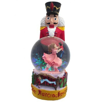 Nutcracker with Mini Clara Snow Globe