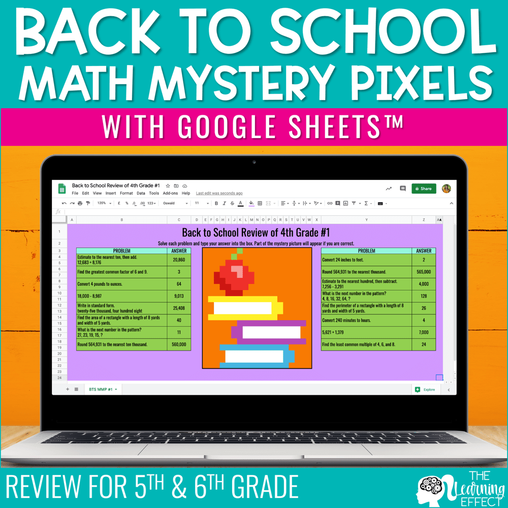 medium resolution of Back to School Math Mystery Pixels Google Sheets   The Learning Effect Shop    The Learning Effect
